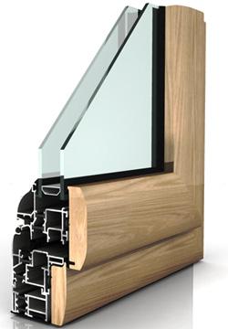 Infissi in alluminio legno inalfer industria porte e finestre - Finestre in alluminio e legno ...
